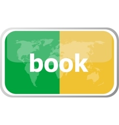 Book word on web button icon isolated on vector
