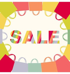 Bright Sale Poster With Bags vector image