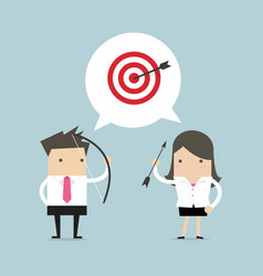 business people same general target of success vector image