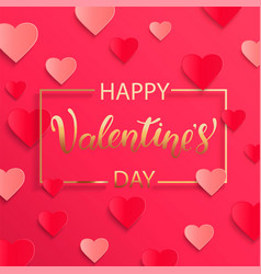 card for happy valentines day vector image