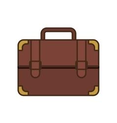 cartoon portfolio suitcase travel business vector image