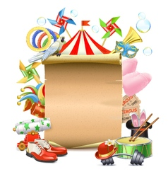 Circus Concept with Poster vector