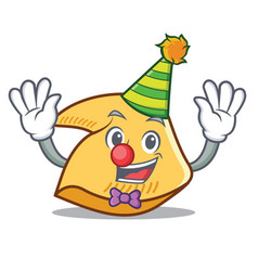 Clown fortune cookie mascot cartoon vector