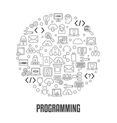 coding and programming concept coding and vector image