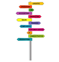 Colored indicators for company departments vector