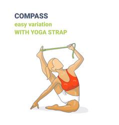compass or surya yantrasana easy variation vector image