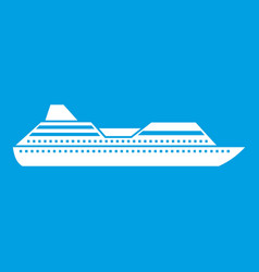 Cruise liner icon white vector