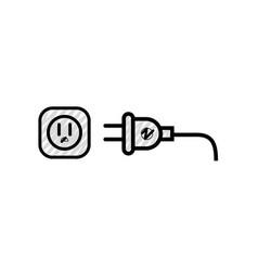 Electric plug symbol vector