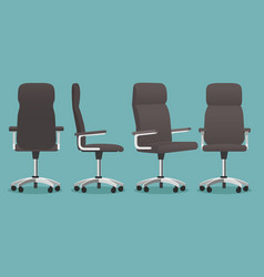 empty office chair vector image