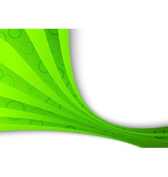 Freshness and ecology in a green wave vector image