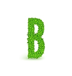 Green Leaves font B vector image