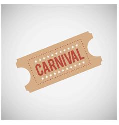happy brazilian carnival day carnival festival vector image