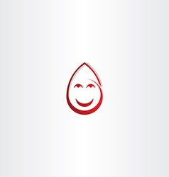 happy drop blood funny face icon vector image