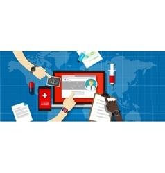 health medical record information system hospital vector image