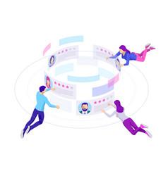 Isometric concept of recruitment management vector