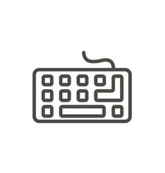 keyboard icon line pc input symbol vector image