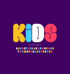kids style font design alphabet letters and vector image