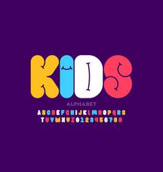 Kids style font design alphabet letters vector