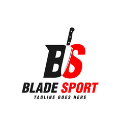 Knife throwing sports logo vector
