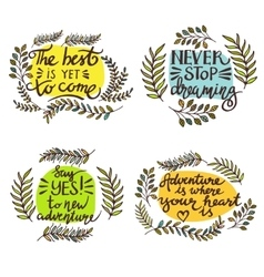 Lettering positive quotes vector