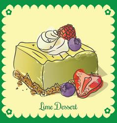Lime dessert vector