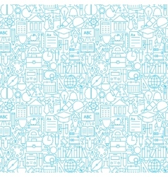 Line white education seamless pattern vector