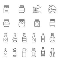 Lines icon set - ketchup vector image