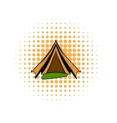 Military tent comics icon vector image