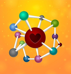Molecules heart vector