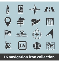 navigation icons vector image