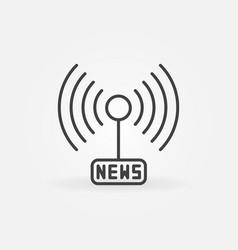 news signal or antenna concept outline icon vector image