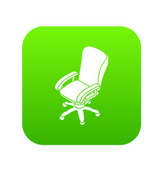 office chair wheel icon green vector image