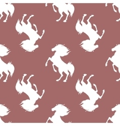 Pattern with horses vector