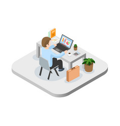 Programmer at work concept can use for web banner vector