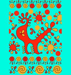 Pysanky ornament ukrainian ethnic pattern for vector