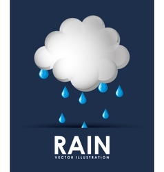 rain weather design vector image