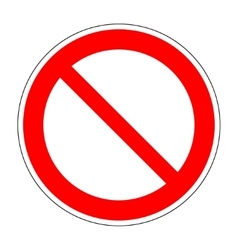 Red no not allowed symbol on white background 2 vector