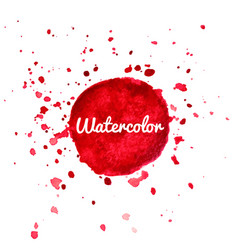 red watercolor splash background vector image