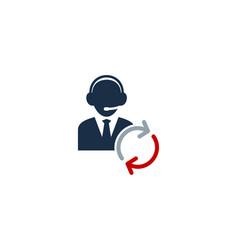refresh call center logo icon design vector image