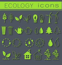 set eco icon on white background vector image