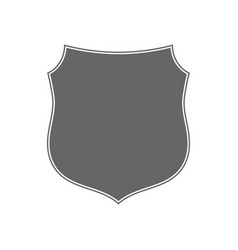 shield shape icon gray label sign isolated on vector image