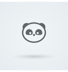 Simple minimalist icon with a muzzle of panda vector