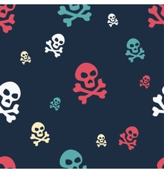 Skull Pattern Colored vector
