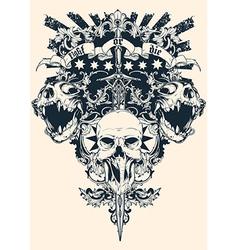 Skull vector
