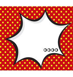 Speech bubble pop artcomic book background vector