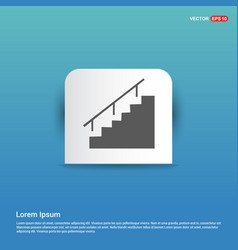 Stairs icon - blue sticker button vector