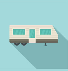 trailer house icon flat style vector image