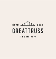 Truss hipster vintage logo icon vector