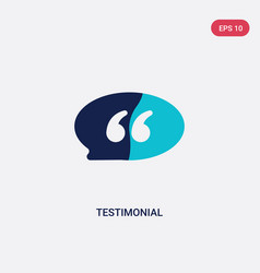 Two color testimonial icon from feedback concept vector