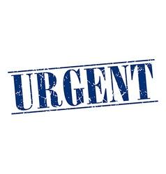 Urgent blue grunge vintage stamp isolated on white vector